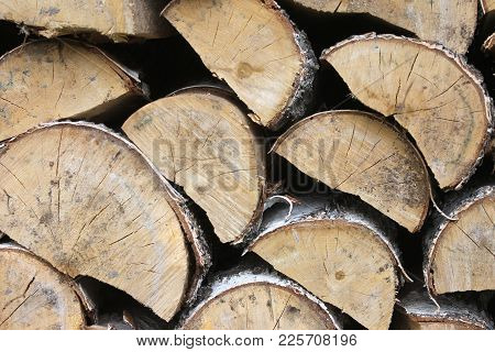 View Of A Stack Wood For Heat Season