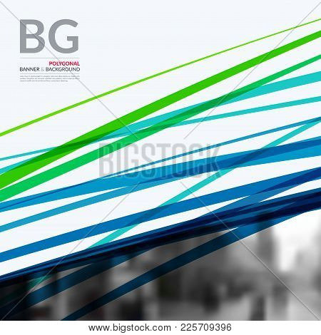 Abstract Vector Design Elements For Graphic Template. Modern Business Background With Green Sketch C