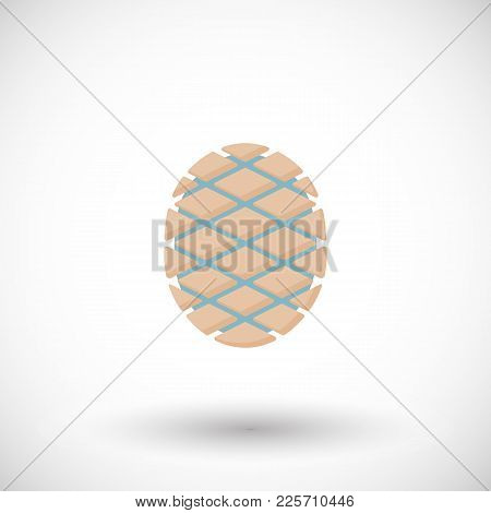 Agave Core Or Heart Flat Vector Icon, Flat Design Of Mexican Beverage Tequila Ingredient, Blue Agave