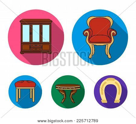Furniture, Interior, Design, Chair .furniture And Home Interiorset Collection Icons In Flat Style Ve