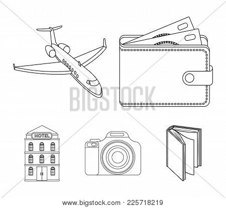 Vacation, Travel, Wallet, Money .rest And Travel Set Collection Icons In Outline Style Vector Symbol