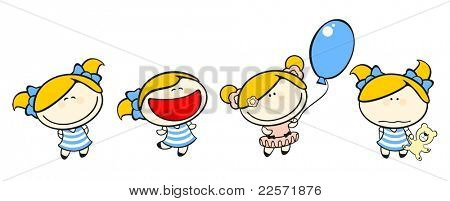Funny kids #50 - blonde girl set