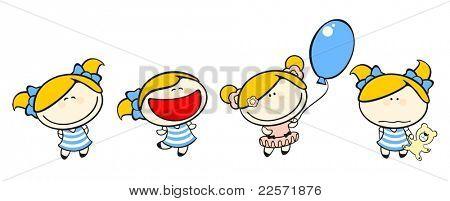 Funny kids #50 - blonde girl set