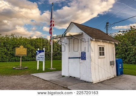 Ochopee, Florida - January 14, 2015: Smallest Post Office In The United States. It Used To Be A Stor