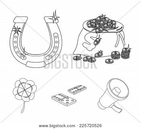 Excitement, Casino, Game And Other  Icon In Outline Style Magnifier, Cheating, Entertainment, Icons