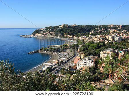 Panorama Of Arenzano In The Western Ligurian Riviera
