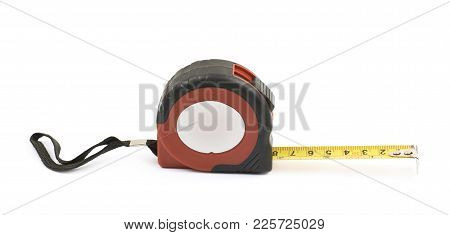 Tape Measure Tool Isolated Over The White Background