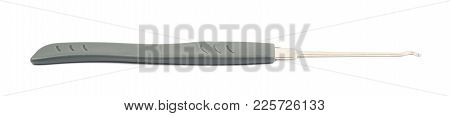 Lock Picking Tool Isolated Over The White Background