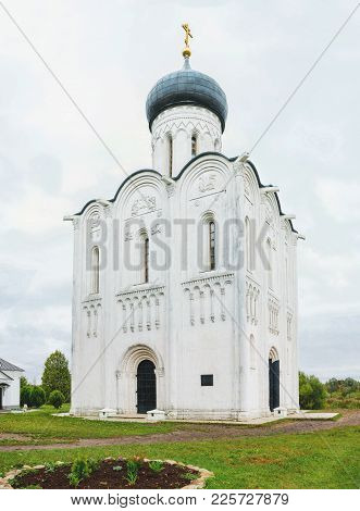 Church Of The Intercession Of The Holy Virgin On The Nerl River. Unesco World Heritage Site. Russia.