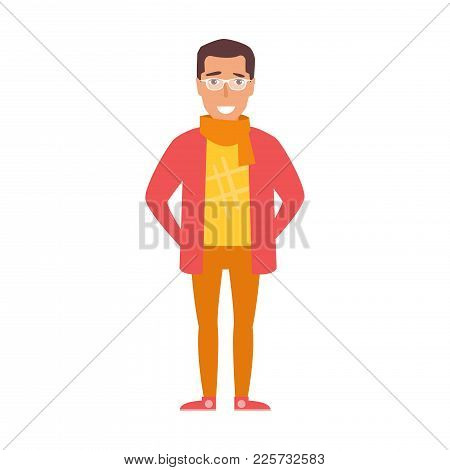 Vector. Cartoon. Isolated Art On White Background. Flat Hipster