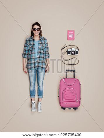 Lifelike Tourist Doll