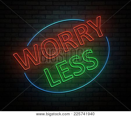 Less Worry Concept.