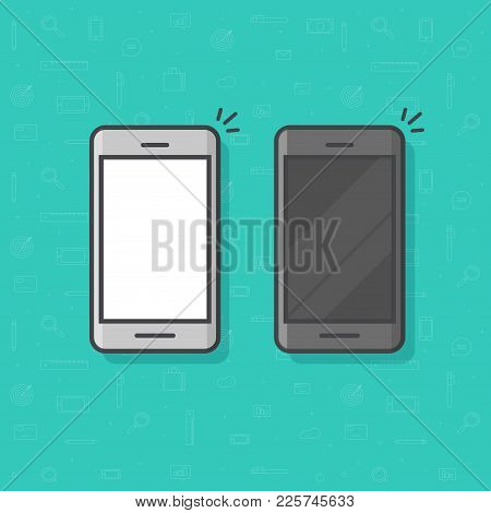 Smartphone Line Outline Style Vector Illustration, Simple Mobile Phone Sketch Line Art Icon Isolated
