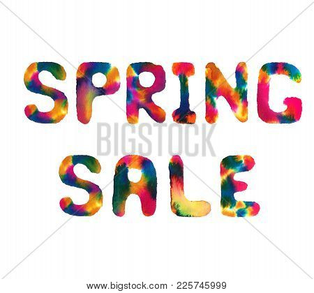 Watercolor Text Spring Sale
