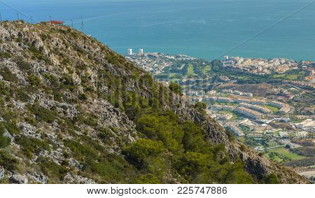 Costa Del Sol Seen From The Top Of Mount Calamorro, A Resort Region On The Mediterranean Coast On Se