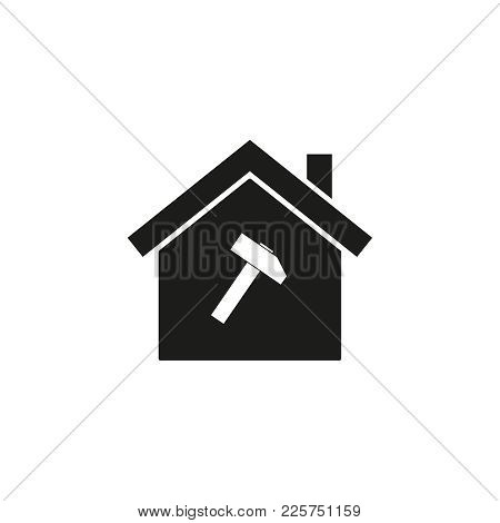 Home Of Hummer Icon On The White Background