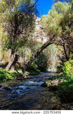 Ihlara Valley With Rock Caves Central Anatolia. Capadocia, Turkey