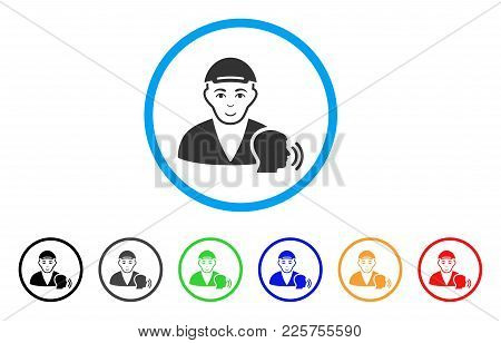 Psychotherapist Talking Rounded Icon. Style Is A Flat Psychotherapist Talking Grey Symbol Inside Lig