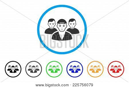 Boy Friends Rounded Icon. Style Is A Flat Boy Friends Grey Symbol Inside Light Blue Circle With Blac