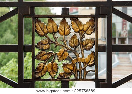 Blacksmith Metal Leaves Texture As A Decoration Background.