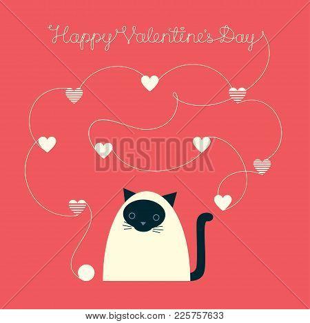 Valentines Day Siamese Cat Yarn