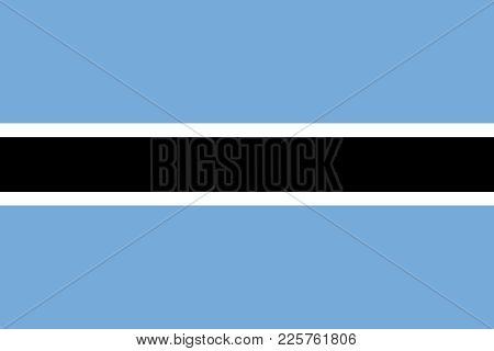 Official Large Flat Flag Of Botswana Horizontal