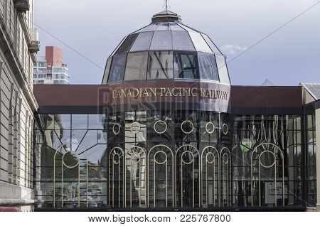 Calgary, Alberta / Canada July 12, 2010: This Canadian Pacific Railway Pavilion Is Part Of The Plus-