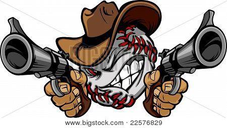 Beisebol Shootout Cartoon Cowboy