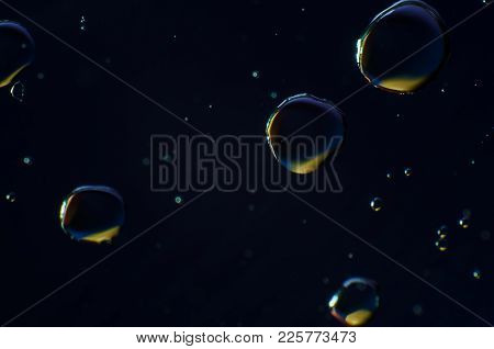 Abstract Background Of Colorful Drops And Drops Of Water Or Oil On The Whole Frame