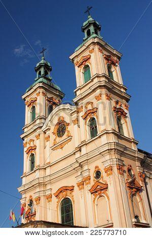 Late Baroque Roman Catholic Church Of Divine Providence In Bielsko-biała, Built In 1760-1769, Rebuil
