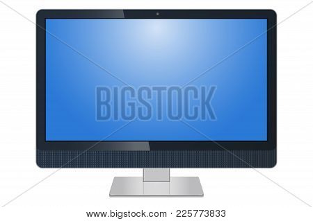 Monitor, Imac, Lcd Screen Pc And Tv Isolated On A White Background - Vector Stock