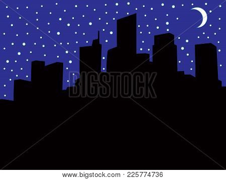 A City Skyline At Night During A Power Blackout