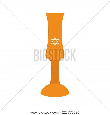 Isolated Traditional Jew Wine Cup, Vector Illustration Design