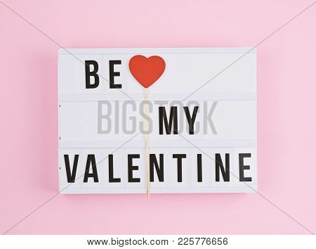 Valentine's Day Background With Light Box Text