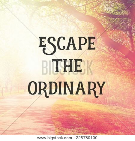 Quote - Escape the ordinary
