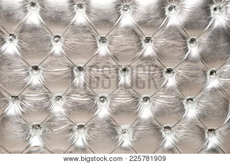 Shiny Silver Upholstery Background