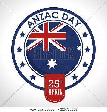 Anzac Day 25th April Logo Vector Illustration Graphic Design