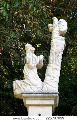 KLENOVNIK, CROATIA - OCTOBER 08: The Agony in the Garden of Gethsemane, Mary's Way in Klenovnik, Croatia on October 08, 2016.