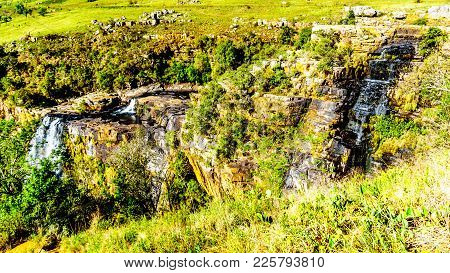View Of Lisbon Falls And The Lisbon River Valley Near Graskop On The Panorama Route In Mpumalanga Pr