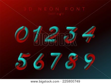 3D Neon Led Font  Vector & Photo (Free Trial) | Bigstock
