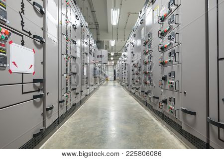 Electrical Switchgear Room Industrial Electrical Switch Panel.