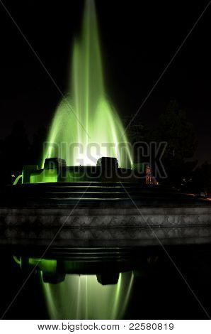 Light up Mulholland Fountain by night