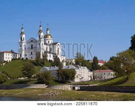 Cathedral Of The Assumption On The Hill And The Holy Spirit Convent In Upper Town On Uspensky Mount