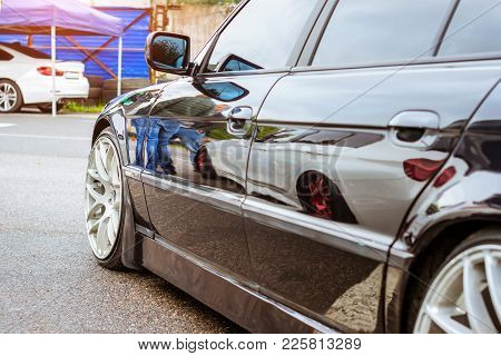 Blak Car For Lovers Of Rally Car German Manufacturer. Autumn Meeting Lovers Of Speed And Drive