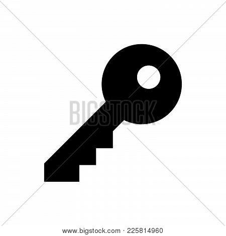 Key Icon Isolated On White Background. Key Icon Modern Symbol For Graphic And Web Design. Key Icon S