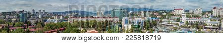 Sochi, Russia - June 4, 2015: Panoramic View Of The City.