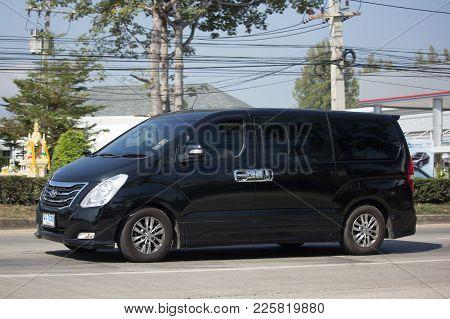 Chiang Mai, Thailand -january 9 2018: Private Luxury Van From Hyundai Korea. Hyundai H1. On Road No.
