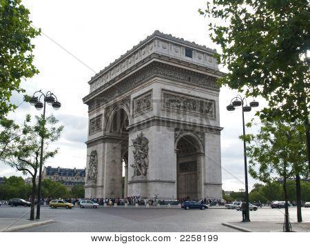 Triumphal Arch In Paris France