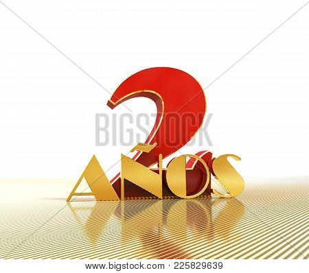 Golden Number Two (number 2) And The Word