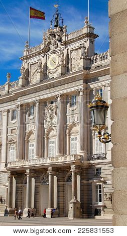 Royal Palace Of Madrid (palacio Real De Madrid) Is The Official Residence Of The Spanish Royal Famil